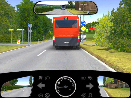 Bus Mit Warnblinker überholen